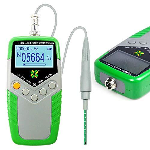 Digital Gauss Meter Handheld Digital Tesla Meter High Precision Gaussmeter Fluxmeter Surface Magnetic Field Tester with Probe 0-2400mT