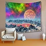 TESSKy Planeta de la fantasía del Cielo Nocturno Hermoso Tapiz Arte del Tapiz Tapiz for el Dormitorio Sala de Estar decoración del Dormitorio Tela de Cortina (Color : B, tamaño : 150 * 200cm)