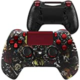 HexGaming HEX Hyper Controller 4 Mappable Back Buttons & Replaceable Thumbsticks & Triggers Stop for PS4 Controller Customized Game Controller PC Wireless FPS Gamepad - Scary Party Red
