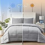 """Hansleep Queen/Full Cooling Comforter Set 90x90"""",..."""
