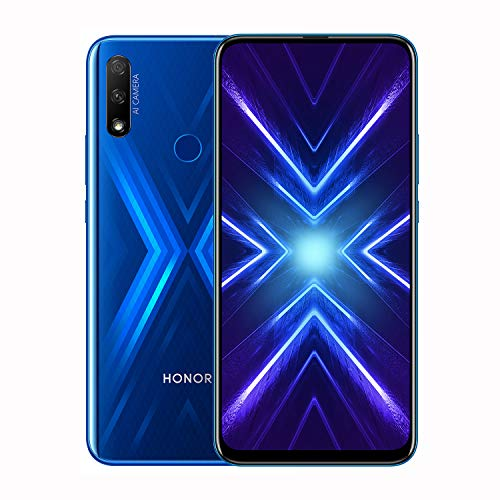 HONOR 9X Smartphone Telefono Movil 4GB RAM 128GB ROM 6.6 Full HD+, 48 + 2MP Cámaras AI Traseras,16MP Camera Selfie Emergente,NFC Dual Sim,Azul