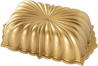 Nordic Ware Classic Fluted Cast Loaf Pan, 6 Cup Capacity, Gold