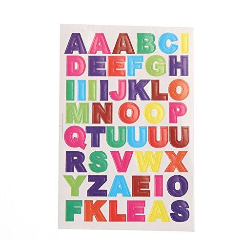 rosenice Alphabet-Aufkleber 10 Blatt-Bunte Buchstabe-Aufkleber DIY Karten-Aufkleber A bis Z