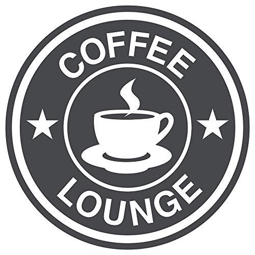 dekodino® Wandtattoo Spruch Küche Kaffee Coffee Lounge Logo Sterne Deko