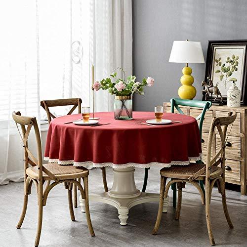Nordic Waterproof puur gepigmenteerd katoen en hennep top ronde eettafel tafelkleed 130cm