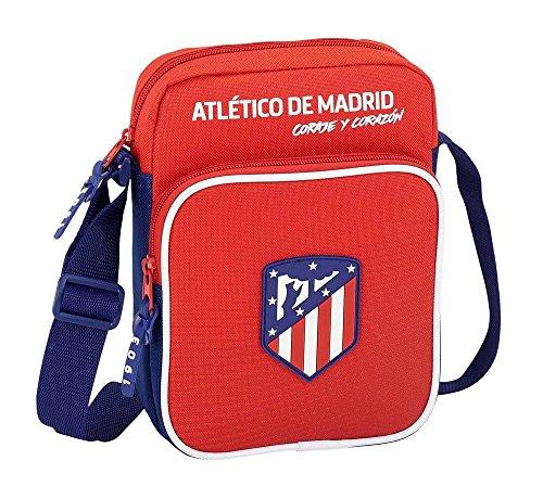 """Safta Bandolera Atlético De Madrid """"Coraje"""" Oficial Con Bolsillo Exterior 160x60x220mm"""