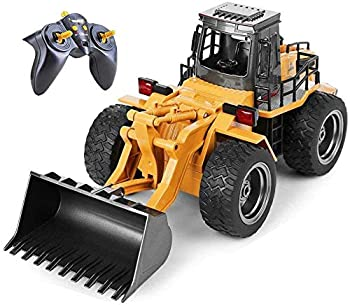 Top Race 6 Channel Full Functional Front Loader RC Remote Control Construction Toy Tractor with Lights & Sounds 2.4Ghz  TR-113G