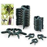 FORMIZON 80 Pcs Clip de Jardín, Clip de Jardinería de Plástico para Plantas de Jardín, Reutilizable Jardín Planta, Patio Apoyo Clips de Fijación para Invernadero (40 pequeñas+40 Grandes)