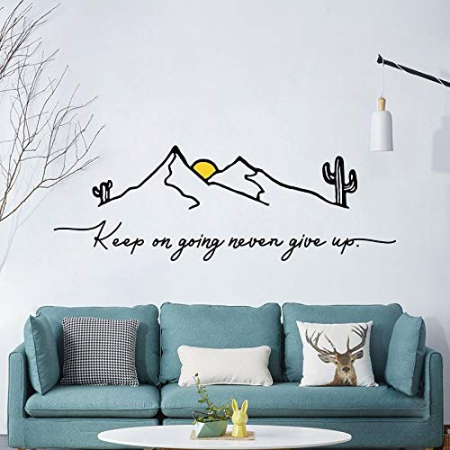 Calcomanías inspiradoras para sala de estar, dormitorio, estudio, dormitorio o dormitorio, decoración de pared, 58 x 60 cm