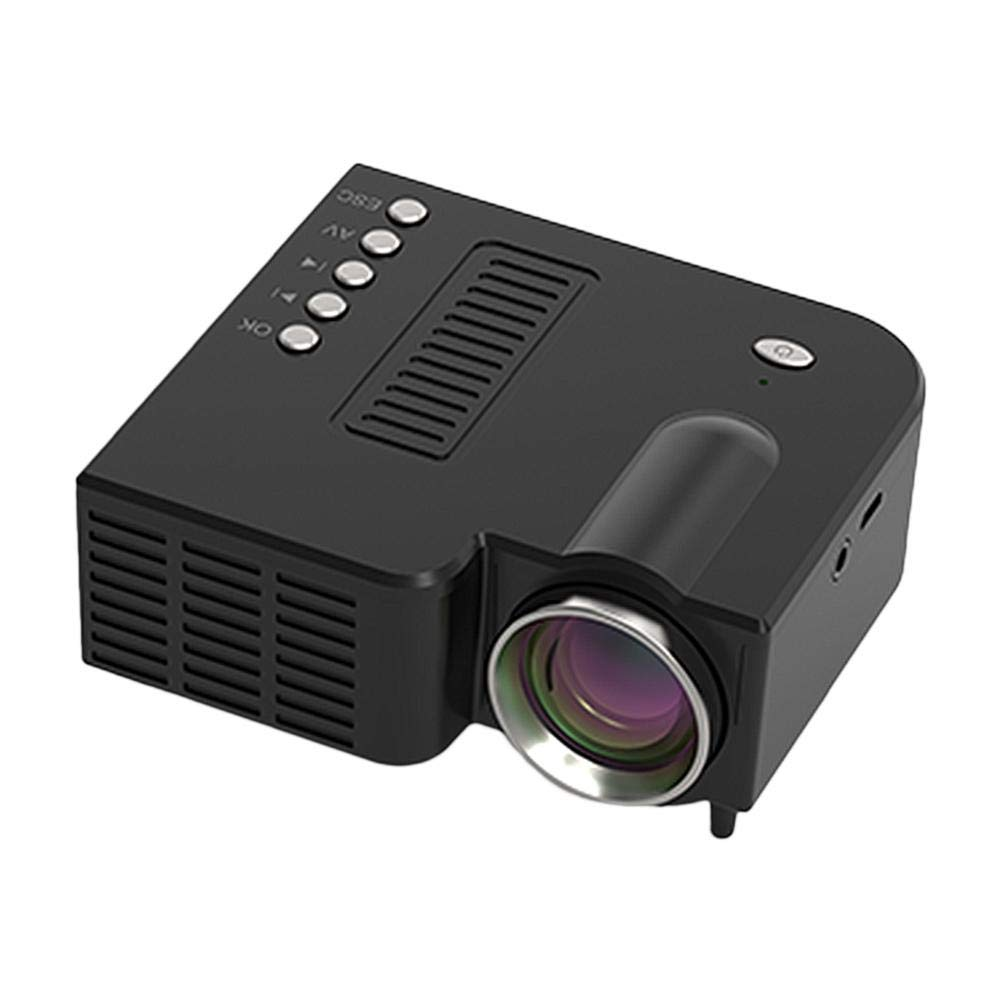 LED USB HD Mini Proyector de Video Port/átil,Soporte MPG,AV,TS,MOV,MKV,DAT,MP4,VOB,1080P HDMI Proyector de Cine en Casa,Mini Proyector Inteligente Multimedia,Mejro Regalo para Fiesta EU