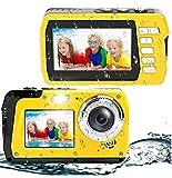 Underwater Camera Waterproof Digital Camera Selfie Dual Screen Video Camera Point Shoot Digital Camera for Snorkeling 48MP 2.7K Waterproof Camera…