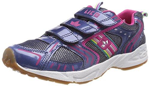 Brütting Unisex - Kinder Halbschuhe Silverstar V, lose Einlage, Kids junior Kleinkinder Kinder-Schuhe toben Spielen Freizeit,blau/pink,37 EU