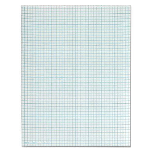 TOPS 35081 Cross Section Pads, 8 Squares, 8 1/2 x 11, White, 50 Sheets