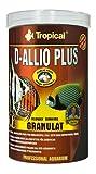 D-ALLIO PLUS GRAN 1000ml/600g Alimento granulado multiingrediente con ajo (30%) para discos y otros peces con altos requerimientos nutricionales, incluyendo peces marinos.