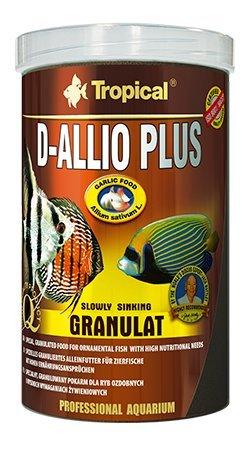 D-ALLIO PLUS GRAN 250 ml/150 g - Nourriture granulée multi-ingrédients avec de l'ail (30 %) pour discus et autres poissons ayant des besoins nutritionnels élevés, y compris les poissons marins.