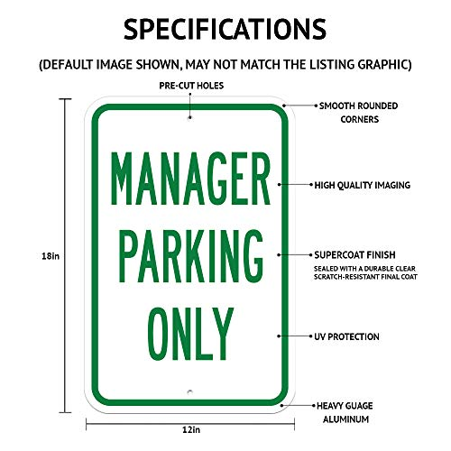 "SignMission Public Safety Sign - Body Temperature Check is Required/Heavy-Gauge Aluminum Parking Sign/Protect Your Business, Municipality, Home & Colleagues/Made in The USA, 12"" x 18"" (A-1218-25435) Photo #4"