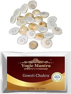 Yogic Mantra Gomti Chakra (25 Pcs. Mix Size) Genuine, Natural & Energized Gomati Chakras for Health, Wealth, Success, Peace, Prosperity, Hindu Holy Puja, Laxmi Pooja, Religious & Spiritual Worship