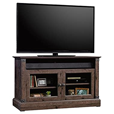 Sauder Carson Forge Panel 43  TV Stand in Coffee Oak