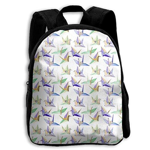 jenny-shop Origami Toddler Backpack Mochilas Escolares para niños de 13 'para niños y niñas