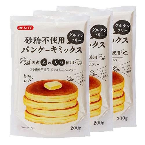 【3袋】みたけ食品 砂糖不使用パンケーキミックス