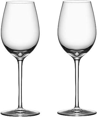 "Orrefors 6180116 Premier 10 oz. White Wine Stemware, Set of 2, 9 1/16"" x 3 3/16"", Clear"