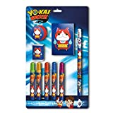 Yo-kai Watch- 0 Set papelería 9 Piezas, 0 (CYP Imports GS-408-YK)