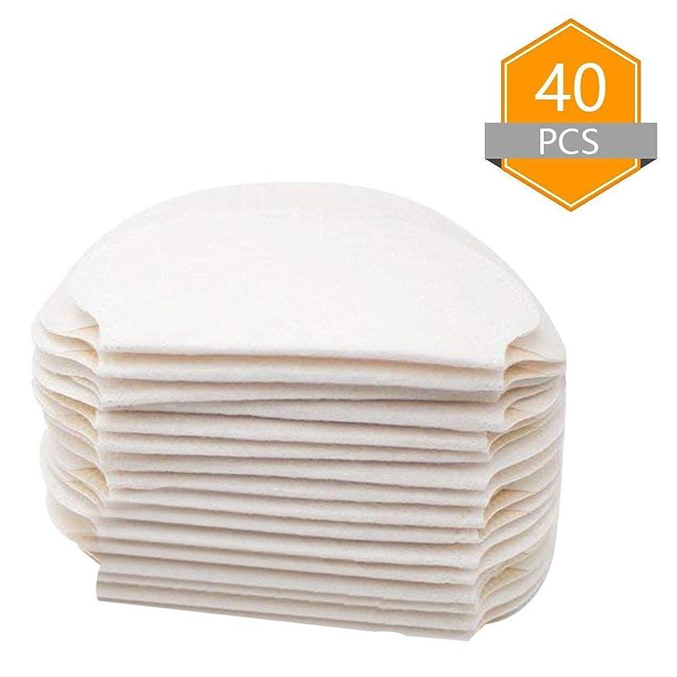 Underarm Sweat Pads - Disposable Cotton Armpit Sweat Absorbent Pads Unisex T-shirt Garment Perspiration Guards(40PCS)