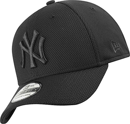Unterdrückt New Era - New York Yankees - 39thirty Flexfit Cap - Stretch Diamond - Black - M - L