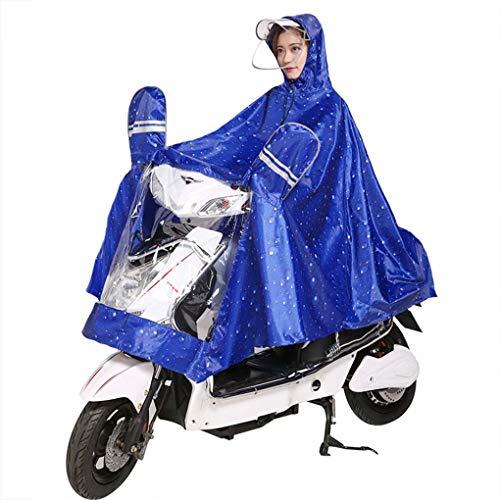 Regenjas elektrische motorfiets regenjas mannelijk en vrouwelijk volwassen dubbele pet poncho enkele helm dubbelzijdige hoes verhogen regenjas
