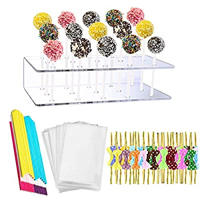 Fox Claw Cake Pop Stand Lollipop Holder 15 Hole Clear Acrylic Cake Pop Stand Display for Birthday Parties Weddings Anniversaries Christmas Candy Decorative from Fox Claw
