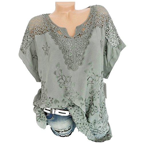 Damen Sommer Casual Loose Fit Kurzarm Fledermaus Batwing T-Shirt Shirt Chiffon Top Bluse