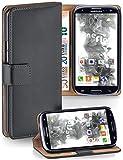 MoEx Cover a Libretto Compatibile con Samsung Galaxy S3 / S3 Neo | Fessura Carta + Soldi, Supporto, Grigio Scuro