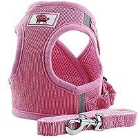 PET SPPTIES Tela de Malla Chaleco para Perros Arnés Suave Ajustable cómodo para Cachorros, Perros Pequeños y Gatos PS042 (S, Pink)