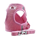 PET SPPTIES Tela de Malla Chaleco para Perros Arnés Suave Ajustable cómodo para Cachorros, Perros Pequeños y Gatos PS042 (XS, Pink)