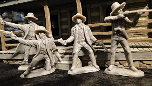 Toy Soldiers Gunfight at OK Corral Set Wyatt Virgil Morgan Earp and Doc Holliday 4 1/32 Figures TSSD
