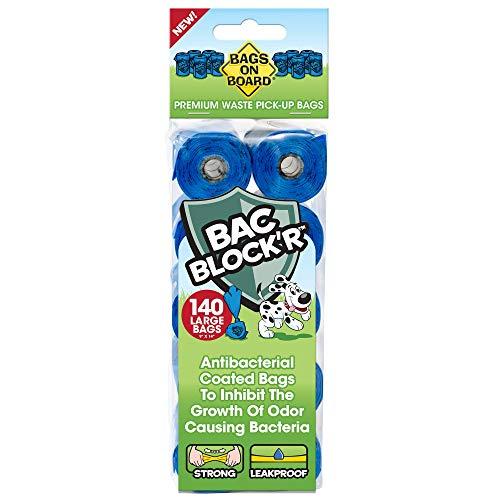 Bags on Board 3203940042-6p Sacchetti Colori per Raccogliere i Bisogni dei Cani 140 Sacchetti, Blu