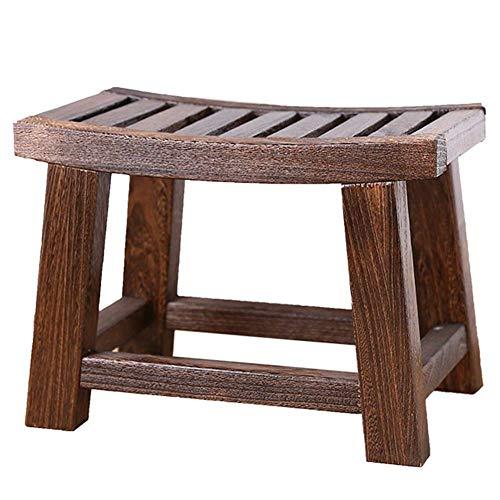 F2 voetenbank kruk alle massief houten kinderen kleine bank woonkamer veranderen schoen bank salontafel zijkruk zadelkruk (kleur: antraciet) Charcoal Color