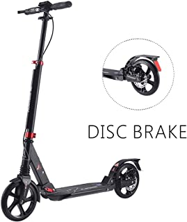 Playshion Big Wheel Scooter for Adults and Teens Foldable Kick Scooters with Hand Brake and Dual Suspension