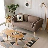 Mc Haus EVY - Sofá nórdico 2 plazas Cómodo color Marrón Tapizado en tela,...
