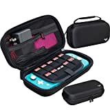 ButterFox Extra Large Carrying Case for Nintendo Switch Lite, Fits Charger, Compatible with JETech Protective Case and Most Grips, Game and Accessories Storage (Black)