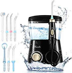 ATMOKO Irrigador Dental con 8 Boquillas Multifunción, 10 Modos con Capacidad de 600ml por 21 Días de Autonomía, 10 Ajustes de Presión del Agua, IPX7