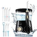 ATMOKO Irrigador Dental con 8 Boquillas Multifunción, 10 Modos con Capacidad de 600ml por 21 Días de Autonomía, 10 Ajustes de Presión...