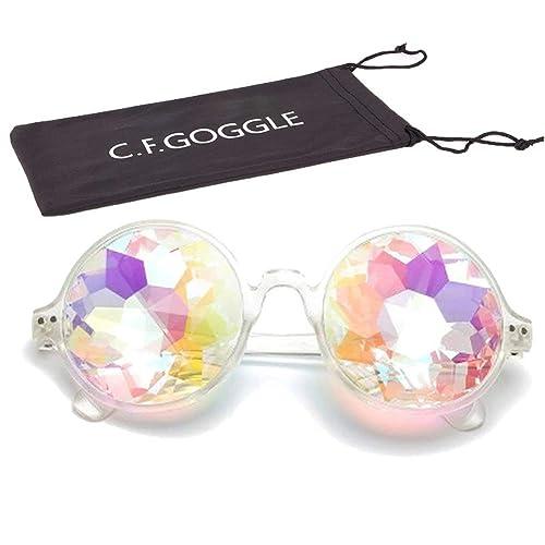 53a78231ac4f OMG_Shop Kaleidoscope Glasses Festival Cosplay Rainbow Prism Sunglasses  Goggles