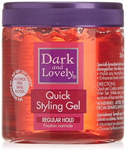 Dark and Lovely Gel Fixation Normale Quick Styling sans Alcool 400ml
