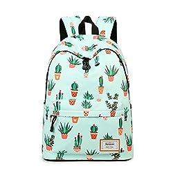 in budget affordable Joymoze Fashion Teen Girls Leisure Backpack School Backpack Women Print Backpack Purse Cactus