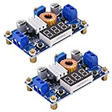 [2 Pack] DC-DC 5A Buck Converter 4-38V to 1.25-36V Step Down Voltage Regulator High Power Module with LED Display