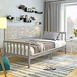 Panana Single <span class='highlight'>Bed</span> Solid Wood <span class='highlight'>Bed</span> Frame 3ft White <span class='highlight'>Wooden</span> (<span class='highlight'>Grey</span>   Wood)