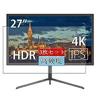 3枚 Sukix フィルム 、 JAPANNEXT JN-IPS2700SUHDR 27インチ ディスプレイ モニター 向けの 液晶保護フィルム 保護フィルム シート シール(非 ガラスフィルム 強化ガラス ガラス )