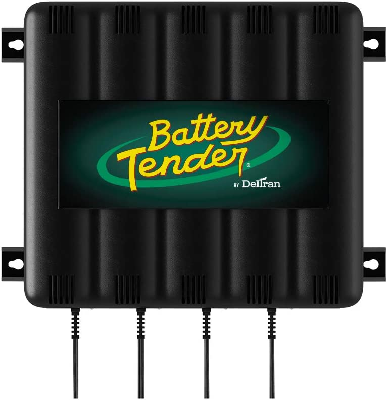 4-Bank Battery Charger Black//Green Battery Tender 022-0148-DL-WH Batteries /& Chargers