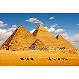 TONGSH Puzzles Una de Las Siete Maravillas del Mundo en el Desierto, la Pirámide de Egipto, Juguetes educativos del Rompecabezas Tarjeta de los niños Adultos (Color : 1000Tablets)